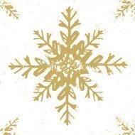 Paperproducts Design Салфетки Ice white-gold бумажные, 16.5х16.5 см, 20 шт.