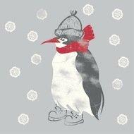 Paperproducts Design Салфетки Winter Penguin бумажные, 16.5х16.5 см, 20 шт.