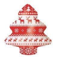 Paperproducts Design Тарелка Magic Christmas большая, 19.5х2х23 см