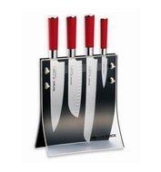 Fried. Dick Набор ножей Red Spirit, 5 пр, в прозрачной магнитной подставке