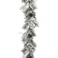 House of Seasons Гирлянда с ягодами, 180х20 см, зеленая в снегу