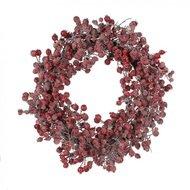 House of Seasons Круг с ягодами, 55 см, красный, заснеженный