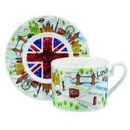 "Churchill Чайная пара ""Карта Лондона"" (0.2 л), 2 пр."