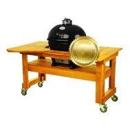 Primo Гриль угольный Oval Large Luxury, на столе из лиственницы