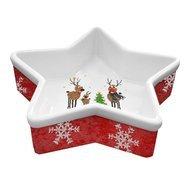Paperproducts Design Блюдце сервировочное Family Christmas, 8х2.5х10.5 см