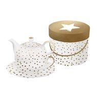 Paperproducts Design Набор для чая The Star Money, с настоящим золотом, в упаковке