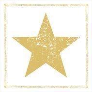 Paperproducts Design Салфетки Star Fashion gold бумажные, 16.5х16.5 см, 20 шт.