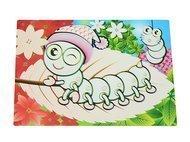 Fissman Многоразовый коврик для рисования водой Гусеница, 29x21 см