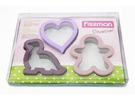 Fissman Набор формочек для вырезания печенья, 3 шт