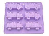 Fissman Форма для выпечки 6 кексов Автобус, 22x20x2.8 см