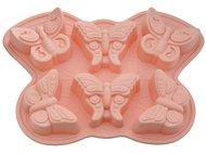 Fissman Форма для выпечки 6 кексов Бабочка, 32.5x23x3.8 см