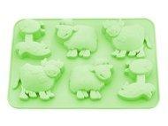 Fissman Форма для выпечки 6 кексов Лошадка, Овечка, Коровка, 25x17x3 см
