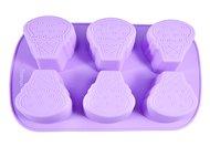 Fissman Форма для выпечки 6 кексов Рожок Мороженого, 26.2x16.5x3.5 см