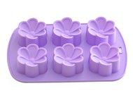 Fissman Форма для выпечки 6 кексов Цветы, 26.5x17x3 см