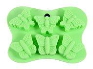 Fissman Форма для льда или шоколада Бабочки, 14x10.5x2 см, 6 ячеек