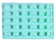 Fissman Форма для льда или шоколада Конфеты Ассорти, 25x17x3 см, 30 ячеек