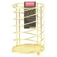 Fissman Подставка для кухонных инструментов Gold, 15х11 см