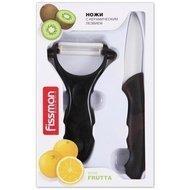 Fissman Набор из ножа и ножа для чистки овощей Y-форма Frutta, керамика