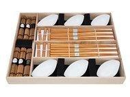 Fissman Набор для суши на 6 персон, 24 пр, в деревянной коробке