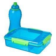 Sistema Ланч-бокс с отделениями и бутылкой, синий