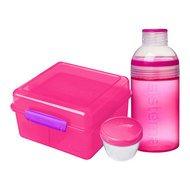 Sistema Ланч-бокс с бутылкой, розовый