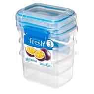 Sistema Набор контейнеров Fresh (400 мл), 11.5х9х16 см, 3 шт, голубой