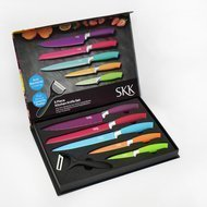 SKK Набор ножей Design Line, с цветным покрытием, 6 пр