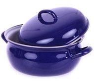 Riess Кастрюля сферическая Blau (2 л), 20 см, с эмалированной крышкой