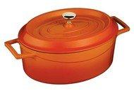 LAVA Литая чугунная утятница с крышкой (6.4 л), 26x33 см, оранжевая