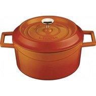 LAVA Литая чугунная кастрюля с крышкой (0.35 л), 10 см, оранжевая