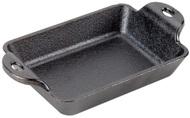 Lodge Блюдо прямоугольное, 20х10 см, черное чугунное