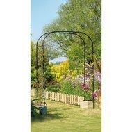 Gardman Арка садовая Extra Wide, 230х152 см, черная