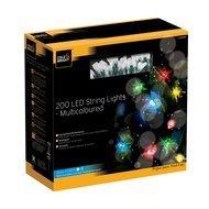 Gardman Гирлянда уличная String Lights, 200 разноцветных LED