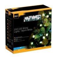 Gardman Гирлянда уличная String Lights, 200 теплых белых LED