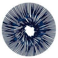 Koziol Блюдо для фруктов Anemone, 32.8 см, синее
