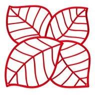Koziol Набор декоративных элементов Leaf, 27х27 см, 4 шт, красный