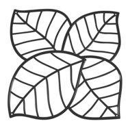 Koziol Набор декоративных элементов Leaf, 27х27 см, 4 шт, черный