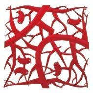 Koziol Набор декоративных элементов Pi:p, 27х27 см, 4 шт, красный