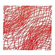 Koziol Набор декоративных элементов Silk, 27х27 см, 4 шт, красный