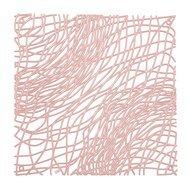 Koziol Набор декоративных элементов Silk, 27х27 см, 4 шт, розовый