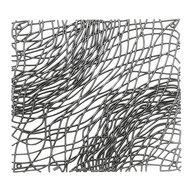 Koziol Набор декоративных элементов Silk, 27х27 см, 4 шт, серый
