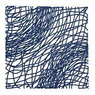 Koziol Набор декоративных элементов Silk, 27х27 см, 4 шт, синий