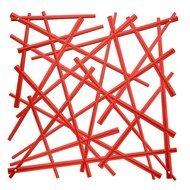 Koziol Набор декоративных элементов Stixx, 27х27 см, 4 шт, красный