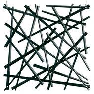 Koziol Набор декоративных элементов Stixx, 27х27 см, 4 шт, черный