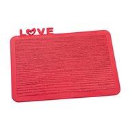 Koziol Разделочная доска Happy Board Love, 25х19 см, красная
