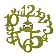 Koziol Часы настенные Pi:p, 45.5 см, зеленые
