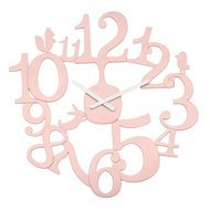 Koziol Часы настенные Pi:p, 45.5 см, розовые