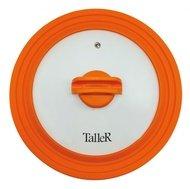 Taller Крышка силиконовая, 24-26-28 см, оранжевая