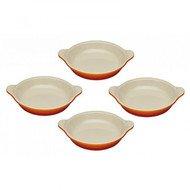 Le Creuset Набор тарелок для крем-брюле, 11 см, 4 шт, оранжевая лава (91017316090000)