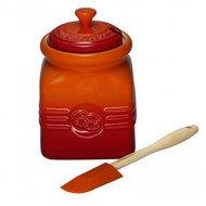 Le Creuset Горшочек для мармелада (0.45 л), с силиконовой лопаткой, оранжевая лава (91021700090000)